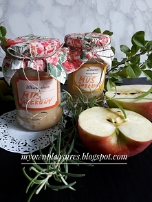 Mus jabłkowy z rozmarynem i chrzanem - przepis  myownpleasures.blogspot.com