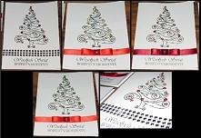 Święta już tuż tuż, więc kartki czas zacząć robić. Format A6, ręczne robione choinki, ozdobione cyrkonami i perełkami w żelu. Zachęcam do zakupu.