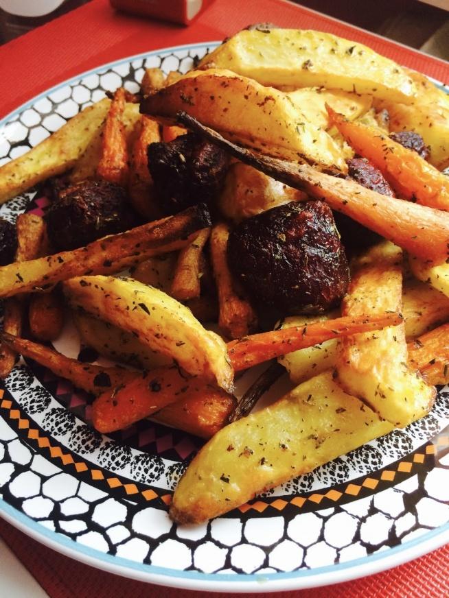 Warzywa pieczone w sosie miodowo - sojowym. Przepis po kliknięciu w zdjęcie - Zapraszam!