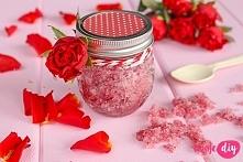 Różany peeling cukrowy - tutorial na twojediy.pl