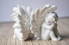 Gipsowe aniołki do zdobieni...