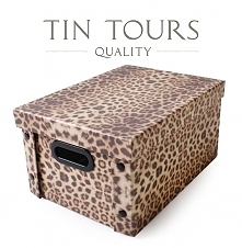 Pudełko obszyte materiałem w modny wzór od koszyki.net.pl szybko uporządkuje i fajnie ozdobi Wasz dom.