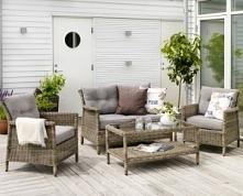 sofa 3-osobowa i dwa fotele na taras - wygodne jak i wykonane z wysokiej jakości materiału