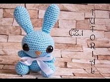 Króliczek na szydełku, część 1/2. Crochet bunny, part 1/2. Amigurumi