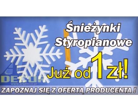 arqdecor.pl arqdecor.eu Śnieżynki Styropianowe
