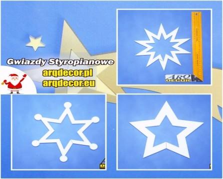 arqdecor.pl arqdecor.eu Gwiazdy Styropianowe - Dekoracje Świąteczne