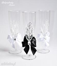 Ręcznie malowane kieliszki do szampana