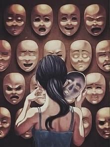 Ludzie  zakładają maski ściągają je tylko wtedy gdy są sami.