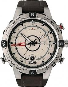 Męski zegarek na skórzanym pasku z barometrem, termometrem oraz kompasem. Moż...