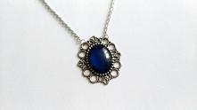 Naszyjnik z pięknym kobalto...