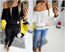 BLACK & WHITE ?  elegancka bluzka FEMME HISZPANKA