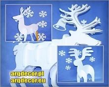 Zapraszamy do naszego sklepu internetowego na arqdecor.pl Styropianowy Składany Renifer !