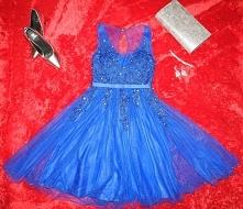 Przepiękna chabrowa sukienk...