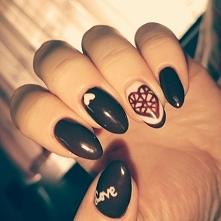 Jesienne paznokcie w kolorze jak nutella <3