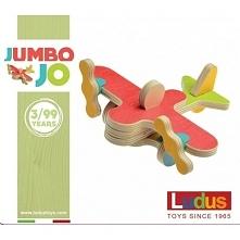 Witajcie,   Drewniane Klocki Konstrukcyjne Ludus Toys Jumbo Jo dla dzieci od lat 3.   Zestaw składa się z 10 elementów z drzewa brzozowego oraz 9 kształtek z tworzywa sztucznego...
