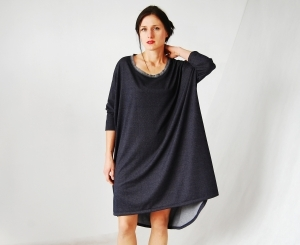 oversizowa sukienka_ dżins
