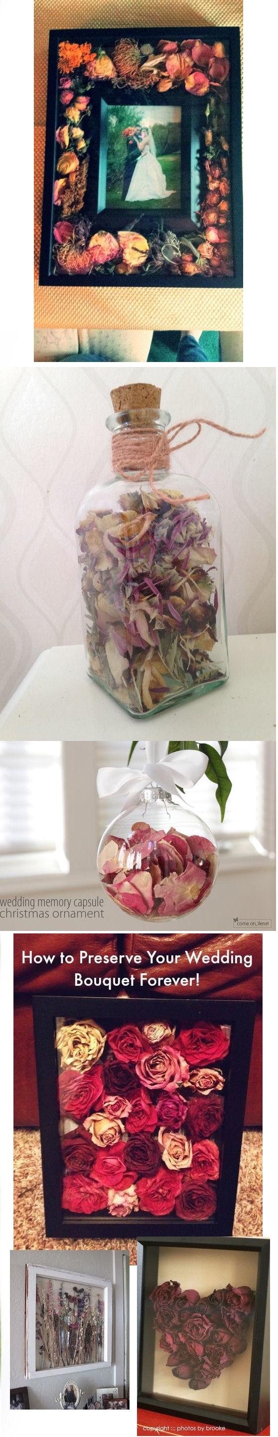 pomysły na zachowanie bukietu ślubnego:) Co o tym myślicie? Macie coś zachowanego z ślubu oprócz obrączki i pamiątkowych zdjęć?:)