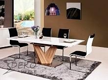 Stół, który doskonale wpasuje się w nowoczesne wnętrze. Posiłki przy takim st...