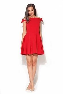 Rozkloszowana sukienka z kokardkami na ramionach to w niej poczujesz się jak ...