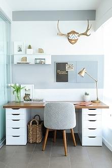 Fajny pomysł na aranżację domowego biura!