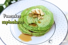 Zielone pancakes szpinakowe...