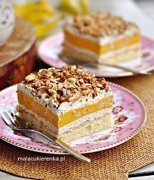 Ciasto z kremem dyniowym. Przepis po kliknięciu w zdjęcie.
