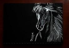Moje dzieło na czarnym kartonie :-)