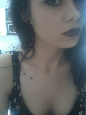Sternum, clavicle piercing, lip piercing <3