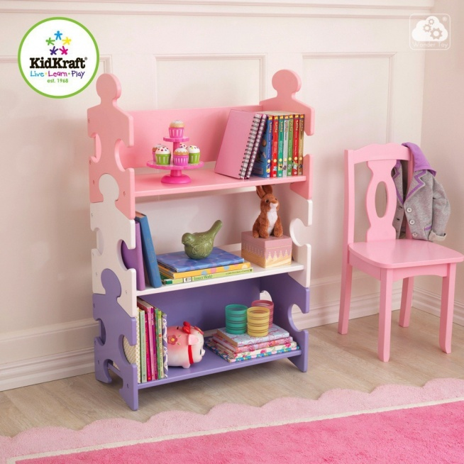 drewniany regalik pastel puzzle kidkraft