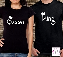 Koszulki dla par Queen King