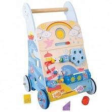 Śliczny, kolorowy i interaktywny pchacz-chodzik to zabawka łącząca w sobie wiele funkcji. Specjalnie zaprojektowany pchacz-chodzik ułatwia dziecku naukę chodzenia. Jest tak zapr...