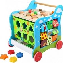 Zabawa i nauka w jednym to zaleta tej zabawki. Każda strona to inny rodzaj aktywności dla zapewnienia długiego zainteresowania zabawką oraz rozwoju dziecka.