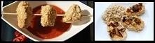 Kurczak w sezamie z ryżem lub sosem   •2 piersi z kurczaka •1 jajko •ziarna sezamu •bułka tarta •przyprawa do kurczaka •olej do głębokiego smażenia •patyczki szaszłykowe •ryż  w...
