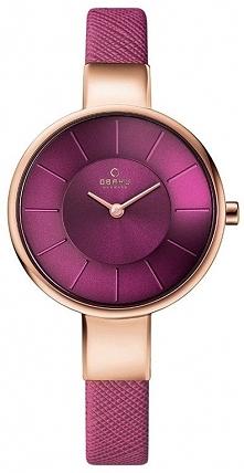 Wrzosowy zegarek damski Obaku Denmark