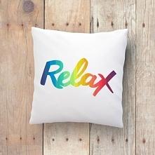 Poduszka RELAX, kolorowy nadruk na długie jesienne wieczory.  littlethings.pl