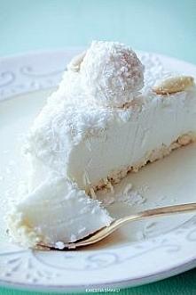 ekstra Sernik Raffaello na zimno :) Składniki: Spód: • 100 g wafelków kokosow...