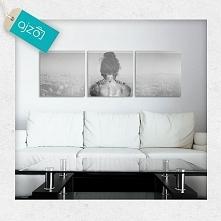 Aranżacja z pięknym czarno-białym obrazem do salonu.