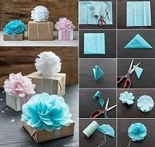 pomysł na udekorowanie prezentu