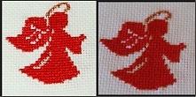 Aniołek haftowany