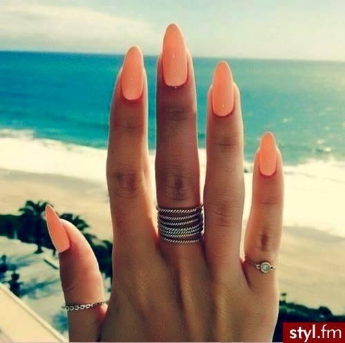 Pomarańczowe paznokcie - Kliknij w zdjęcie aby zobaczyć więcej