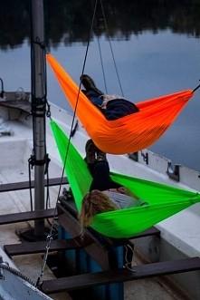 Najlepszy sposób na chill i wspaniała alternatywa dla namiotu. Uwielbiam nasze hamaki :D