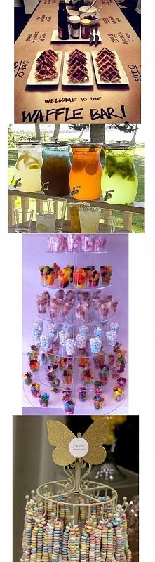 garść pomysłów na podanie słodkości, przekąsek, napojów i wszystkiego co jest...