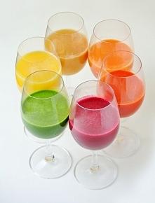 Piękne kolorowe jesienne soki  stylowoizdrowo.blogspot.com