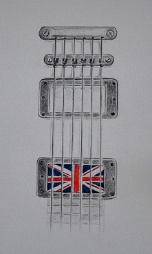 Gitara jako projekt tatuażu...