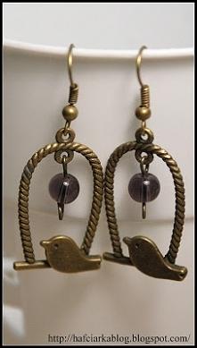 Kolczyki ptaszki handmade