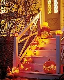Podświetlone dynie jako najbardziej znana dekoracja na Halloween - zapraszam ...
