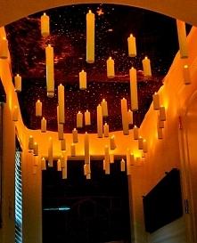 Wiszące świece jako efektowna dekoracja na Halloween- zobacz pozostałe pomysł...