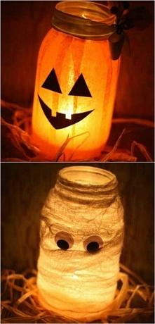 Świecące słoiki! czyli jak zrobić prostą dekorację na Halloween!
