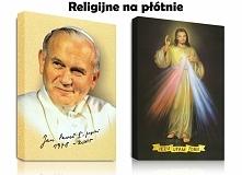 Obrazy Religijne na płótnie canvas. Jan Paweł II, Matka Boska Częstochowska, Jezus Miłosierny