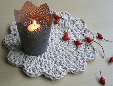 Bawełniana podkładka pod gorące naczynia. Wykonanie: Babskie Uroczysko